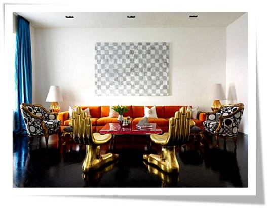 Michael Raun Home INterior design and decorating: Jonathan Adler Designs